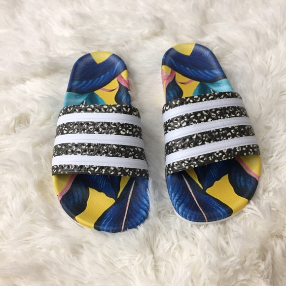 3101db4c7bd1 Adidas Tropical Adilette Slides 🌴